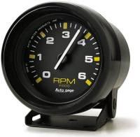 Mini Gauges & Consoles - Auto Meter AutoGage Individual Gauges - 6,000 RPM Black Mini Tachometer