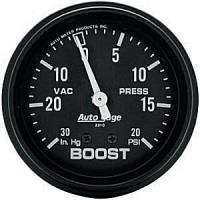 Autogage - Auto Meter Auto Gage Individual Gauges - Boost/Vacuum Mechanical Gauge