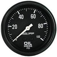Autogage - Auto Meter Auto Gage Individual Gauges - 0-100 PSI Mechanical Oil Pressure Gauge