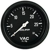 Autogage - Auto Meter Auto Gage Individual Gauges - Mechanical Vacuum Gauge