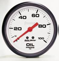 Gauges & Gauge Pods - Phantom Series Gauges - Oil Pressure 0-100 PSI