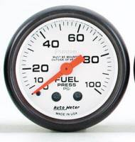 Gauges & Gauge Pods - Phantom Series Gauges - Fuel Pressure 0-100 PSI