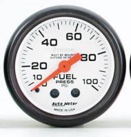 Gauges & Gauge Pods - Phantom Series Gauges - Fuel Pressure 0-100 PSI