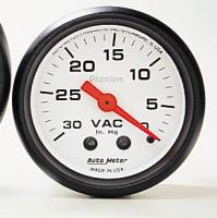 Gauges & Gauge Pods - Phantom Series Gauges - Vacuum 30in. HG.