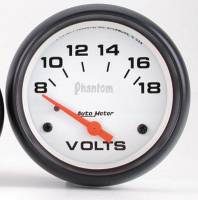 Gauges & Gauge Pods - Phantom Series Gauges - Voltmeter 8-18 Volts