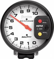 Gauges & Gauge Pods - Phantom Series Gauges - 10,000 RPM Pedestal Mount Tachometer