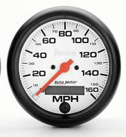 "Gauges & Gauge Pods - Phantom Series Gauges - 3-3/8"" 160 MPH Electric Speedometer"