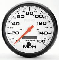 "Gauges & Gauge Pods - Phantom Series Gauges - 5"" 160 MPH Electric Speedometer"