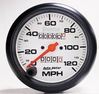 "Gauges & Gauge Pods - Phantom Series Gauges - 3-3/8"" 120 MPH In-Dash Mechanical Speedometer"