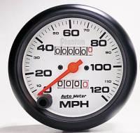 "Gauges & Gauge Pods - Phantom Series Gauges - 3-3/8"" 120 MPH In-Dash Mechanical Speedometer"