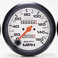 "Gauges & Gauge Pods - Phantom Series Gauges - 3-3/8"" 160 3-3/8"" 160 MPH In-Dash Mechanical Speedometer MPH In-Dash Mechanical Speedometer"