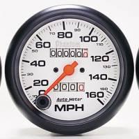 "Gauges & Gauge Pods - Phantom Series Gauges - 5"" 200 MPH In-Dash Mechanical Speedometer"