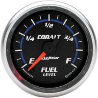 Cobalt Series Gauges - Auto Meter Cobalt Speedometers, Tachometers, and Fuel Gauges - Fuel Level Full Sweep Gauge