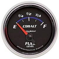 Cobalt Series Gauges - Auto Meter Cobalt Speedometers, Tachometers, and Fuel Gauges - Fuel Level Short Sweep