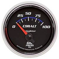 Cobalt Series Gauges - Auto Meter Cobalt Temperature and Oil Gauges - Oil Pressure Short Sweep