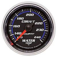 Cobalt Series Gauges - Auto Meter Cobalt Temperature and Oil Gauges - Water Temperature Full Sweep 120-240 F