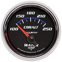 Cobalt Series Gauges - Auto Meter Cobalt Temperature and Oil Gauges - Water Temperature Short Sweep 100-250 F