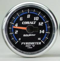 Cobalt Series Gauges - Auto Meter Cobalt Temperature and Oil Gauges - Pyrometer 0-1600 F
