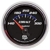 Cobalt Series Gauges - Auto Meter Cobalt Temperature and Oil Gauges - Oil Temperature Short Sweep
