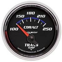 Cobalt Series Gauges - Auto Meter Cobalt Temperature and Oil Gauges - Transmission Temperature Short Sweep
