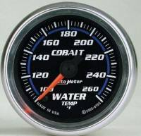 Cobalt Series Gauges - Auto Meter Cobalt Temperature and Oil Gauges - Water Temperature 100-260 F