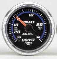 Cobalt Series Gauges - Auto Meter Cobalt Vacuum / Boost Gauges - Boost 30 in Hg.-Vac./30 PSI