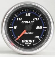 Cobalt Series Gauges - Auto Meter Cobalt Vacuum / Boost Gauges - Boost 30 PSI
