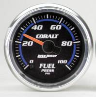 Cobalt Series Gauges - Auto Meter Cobalt Speedometers, Tachometers, and Fuel Gauges - Fuel Pressure 0-100 PSI