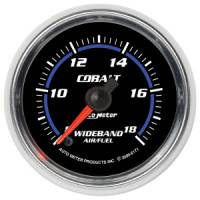 Cobalt Series Gauges - Auto Meter Cobalt Voltmeters, Clocks, and Air/Fuel Ratio Gauges - Wideband Air/Fuel Ratio Full Sweep