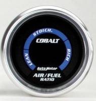 Cobalt Series Gauges - Auto Meter Cobalt Voltmeters, Clocks, and Air/Fuel Ratio Gauges - Air Fuel Ratio (Lean-Rich)