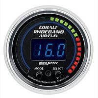 Cobalt Series Gauges - Auto Meter Cobalt Voltmeters, Clocks, and Air/Fuel Ratio Gauges - Wideband Air/Fuel Ratio Gauge