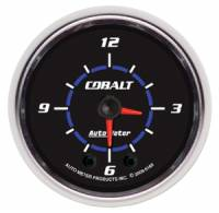 Cobalt Series Gauges - Auto Meter Cobalt Voltmeters, Clocks, and Air/Fuel Ratio Gauges - Clock