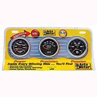 Cobalt Series Gauges - Auto Meter Cobalt Temperature and Oil Gauges - Three-Gauge Water Temperature, Voltmeter, and Oil Pressure