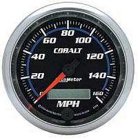 Cobalt Series Gauges - Auto Meter Cobalt Speedometers, Tachometers, and Fuel Gauges - Electric Programmable Speedometer Full Sweep