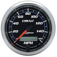Cobalt Series Gauges - Auto Meter Cobalt Speedometers, Tachometers, and Fuel Gauges - Electric Programmable Speedometer Full Sweep