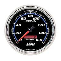 "Cobalt Series Gauges - Auto Meter Cobalt Speedometers, Tachometers, and Fuel Gauges - 5"" Electric Programmable Speedometer Full Sweep"