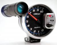 Cobalt Series Gauges - Auto Meter Cobalt Speedometers, Tachometers, and Fuel Gauges - 10,000 RPM Shift-Lite Tachometer