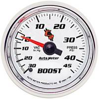 "C-2 Series Gauges - Auto Meter C-2 Boost, Vacuum, and Nitrous Gauges - 2-1/16"" Vacuum/Boost"