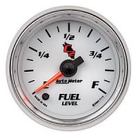 "C-2 Series Gauges - Auto Meter C-2 Tachometers, Speedometers, and Fuel Gauges - 2-1/16"" Fuel level Programable Empty/Fuel Range"