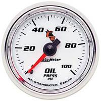 "C-2 Series Gauges - Auto Meter C-2 Oil, Water, Pyrometer, and Voltmeter Gauges - 2-1/16"" Oil Pressure Gauge"