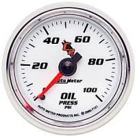 """C-2 Series Gauges - Auto Meter C-2 Oil, Water, Pyrometer, and Voltmeter Gauges - 2-1/16"""" Oil Pressure Gauge"""