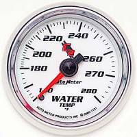 "C-2 Series Gauges - Auto Meter C-2 Oil, Water, Pyrometer, and Voltmeter Gauges - 2-1/16"" Water Temperature Gauge"