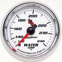 "C-2 Series Gauges - Auto Meter C-2 Oil, Water, Pyrometer, and Voltmeter Gauges - 2-1/16"" Water Temperature Gauge"