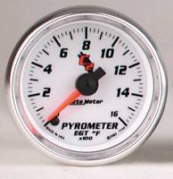 C-2 Series Gauges - Auto Meter C-2 Oil, Water, Pyrometer, and Voltmeter Gauges - Pyrometer 0-1600 F