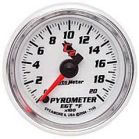 C-2 Series Gauges - Auto Meter C-2 Oil, Water, Pyrometer, and Voltmeter Gauges - Pyrometer 0-2000 F