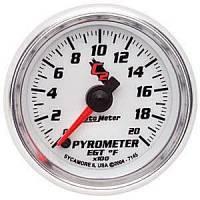 C-2 Series Gauges - Auto Meter C-2 Oil, Water, Pyrometer, and Voltmeter Gauges - Pyrometer 0-2000 F
