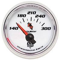 "C-2 Series Gauges - Auto Meter C-2 Oil, Water, Pyrometer, and Voltmeter Gauges - 2-1/16"" Oil Temperature Gauge"
