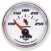 "C-2 Series Gauges - Auto Meter C-2 Oil, Water, Pyrometer, and Voltmeter Gauges - 2-1/16"" Transmission Temperature Gauge"