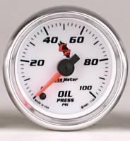 C-2 Series Gauges - Auto Meter C-2 Oil, Water, Pyrometer, and Voltmeter Gauges - Oil Pressure 0-100 PSI