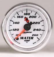 C-2 Series Gauges - Auto Meter C-2 Oil, Water, Pyrometer, and Voltmeter Gauges - Water Temperature 100-260 F